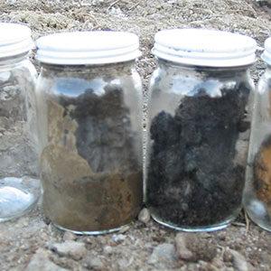 Hazardous Waste Cleanup  Sample Jars