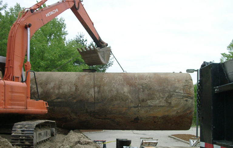 storage tank pull